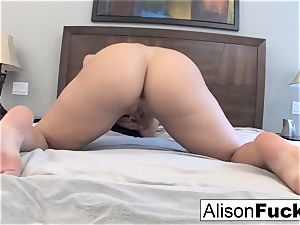 Alison Tyler plays with her cooch