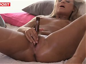 Czech blond babe loves Reaching orgasm By Herself