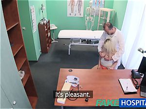 FakeHospital doctor helps blondie get a humid gash