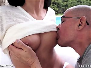 aged father plumbs his uber-cute fresh nubile stepdaughter Coco De Mal