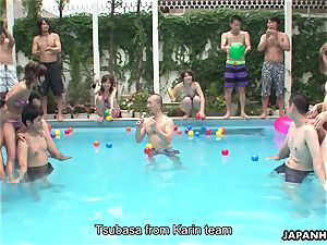 japanese bikini bi-otches frolicking by the pool