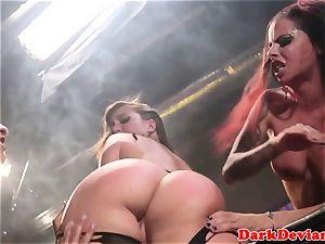 female domination 3 lesbians raunchy strap-on shag session
