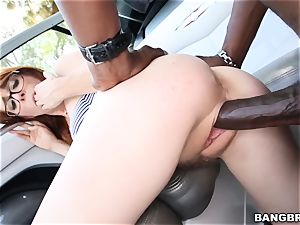 Penny Pax treats herself to a dark-hued cock