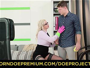 insatiable tutor - large jugs cougar educator penetrates college girl