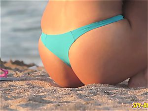 voyeur Beach red-hot Blue bikini g-string fledgling nubile movie
