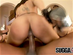 ebony Marie Luv gets rectal from bbc