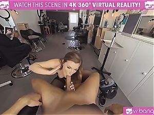 VRBangers.com Hairdresser Ella banged rock-hard and facial cumshot
