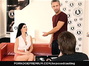 uncovered casting - pornography starlet Jasmine Jae MMF 3some