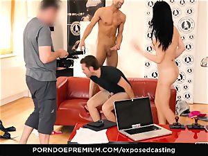 uncovered casting - pornography starlet Jasmine Jae MMF 3some