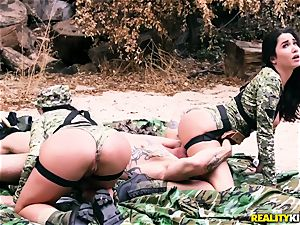 Angela milky, Karlee Grey - steamy army supersluts with giant funbags