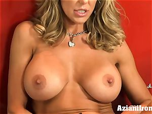 torn up Brandi love peels off and jerks