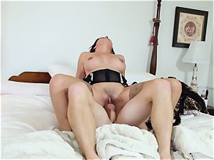 Danica Dillan gets her way and plunges fuck-stick in her arse