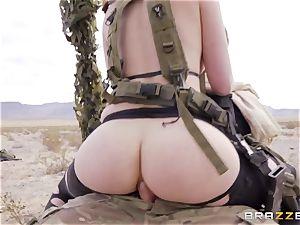 metal Gear Solid 5 anal porn parody with horny dark-haired Casey Calvert