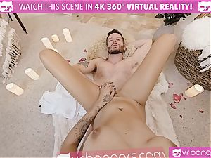 VR porn - Thanksgiving Dinner becomes insatiable drilling
