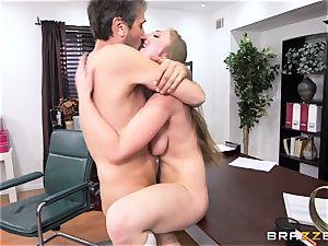ultra-kinky college girl Lena Paul humped by headmaster