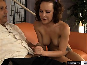 Katie St Ives gets experience from an older guy