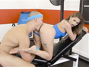 Sydney Cole takes a super hot length at the gym