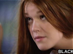 BLACKED red-haired Kimberly Brix first-ever multiracial three way