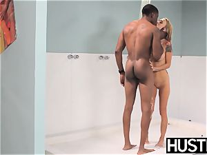Ultimate light-haired Sarah Jessie submits to big bbc