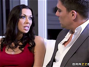 Rachel Starr poking her husbands red-hot suited manager