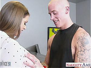 dark-skinned haired goddess Brooklyn haunt penetrated excellent by her guy