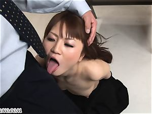 bdsm. stringent japanese parent penalizes his daughter-in-law Sakamoto Hikari