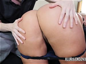 big-boobed milf Alura Jenson has her massive ass worshipped
