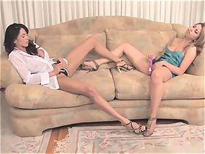 Ariella Ferrera dildoing with her girlfriend