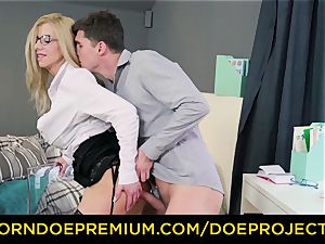 horny lecturer - big-chested mummy gets pummeled by her schoolgirl