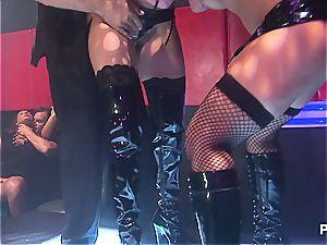 sweat-soaked ass-fuck on the dancefloor