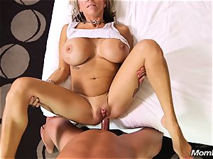 yam-sized bosoms cougar gets ass-fuck poke and facial