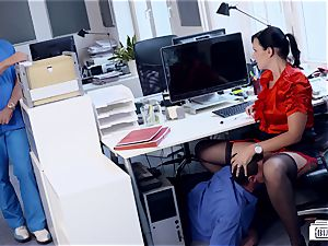 butts BUERO - wondrous German secretary tears up at the office