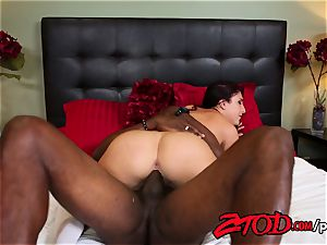 Mischa Brooks likes her Coffee ebony and total of jism