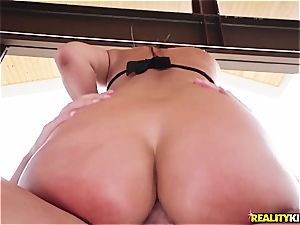 Amirah Adarah's backside gets destroyed by a enormous salami