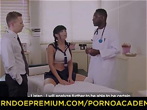 pornography ACADEMIE Silicone buxomy college girl assfuck 3