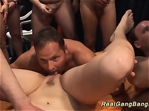 horny inexperienced gang-bang nubile bang-out