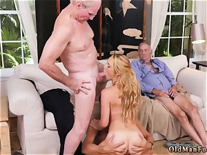 young old stud hd Frannkie And The gang Tag crew A Door To Door Saleswoman