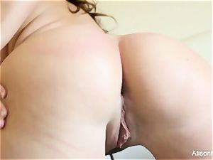 meaty jugged bombshell Alison Tyler plays with her pussy