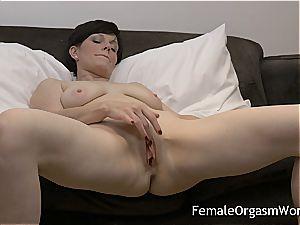 wild cougar milking fleshy labia to