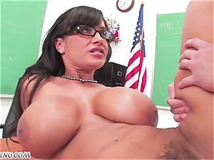 Lisa Ann - intimate lessons on orgy education after class