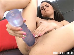 smallish Ashley forest makes her snatch spunk from immense faux-cock