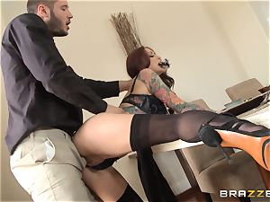 redhead wifey Monique Alexander getting dicked via the dining table