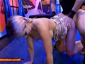 Chessie Kay piss facialed yam-sized mammories 666Bukkake