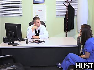 tempting nurse Stassi Sinclaire plows in doctors office