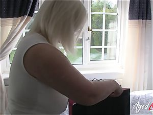 AgedLovE busty Lacey Starr hardcore and oral job