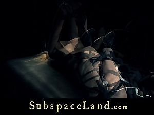 sub damsel blondie pleasured and punished in submission