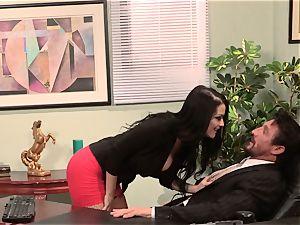 secretary Katrina Jade bangs her torrid boss at work