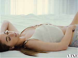 VIXEN Riley Reid and Kendra Sunderland have finest lezzie fuck-a-thon