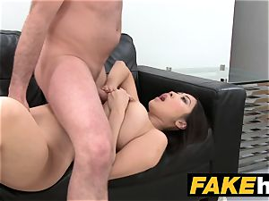 fake Agent ginormous boobs japanese wants firm nail