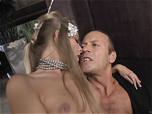 Cayenne Klein and her mate fucked by Rocco Siffredi